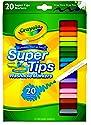 CRAYOLA Super Tips Marker, 20 Count (58-8106)
