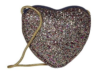crewcuts by J.Crew Glitter Heart Bag (Glitter Multi) Cross Body Handbags