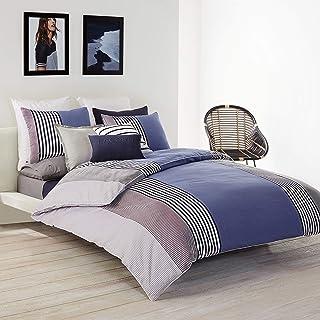 Lacoste Meribel Cotton Bedding Set, Full/Queen, Blue/White