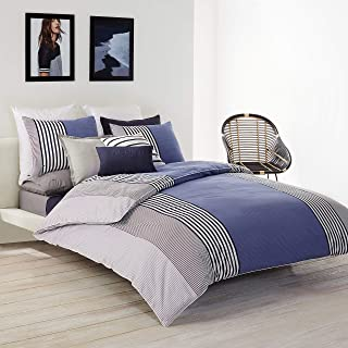 Lacoste Meribel Comforter Set, King, Blue/White