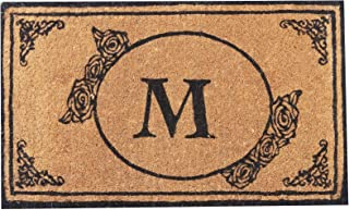 Envelor Home and Garden Handwoven, Customized Monogram Extra Thick Doormat, Outdoor Rugs Durable Coir, Outdoor Doormat, We...