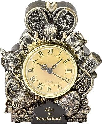 セトクラフト 置き時計 Alice in wonderland SR-0719 11.8×4.5×14.5(cm)