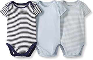 Moon and Back by Hanna Andersson Baby Boys' and Girls' 3 Pk Short Sleeve Bodysuit