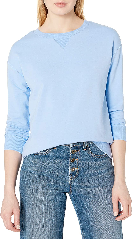 Amazon Brand - Daily Ritual Women's Terry Cotton and Modal Crewneck Sweatshirt