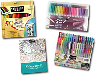 Sargent Art 22-0049 Perfect Little Artist Kit 4 Piece Art Activity Set, Pencils, Markers, Gel Pens, Coloring Book