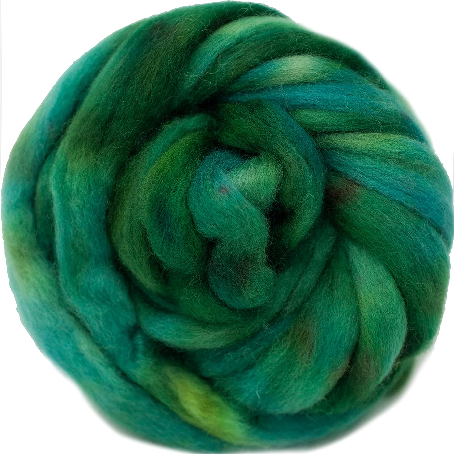 Cash special price Wool Roving Hand Dyed. Super Soft Combed Top BFL Outstanding for Pre-Drafted