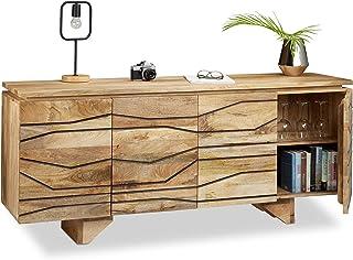 Native Home aparador Cómoda de Madera de Mango Aparador salón de Madera HxLxP: 75 x 177 x 45 cm