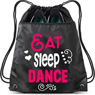 Eat Sleep Dance Sack Drawstring Bag For Youth Girls Boys Kids 18