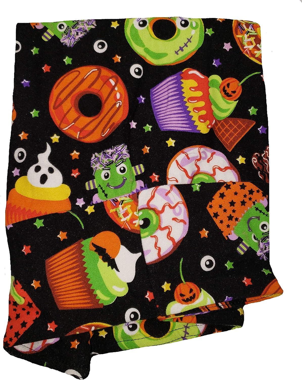Halloween Cupcakes & Donuts Print Black Super Soft High Rise Legging