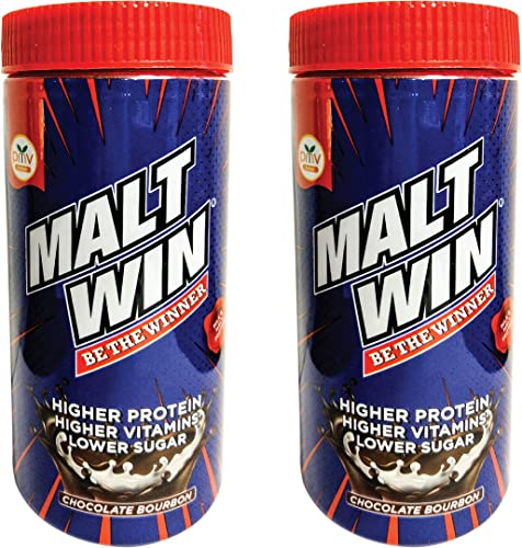 Maltwin Chocolate Bourbon Malt Based Health Drink for Kids Adults Jar 2 x 250 g
