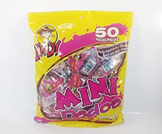 Bag Of Mini Dedos Indy Spicy And Sour Candy 50 PCS Authentic Mexican Candy With Free