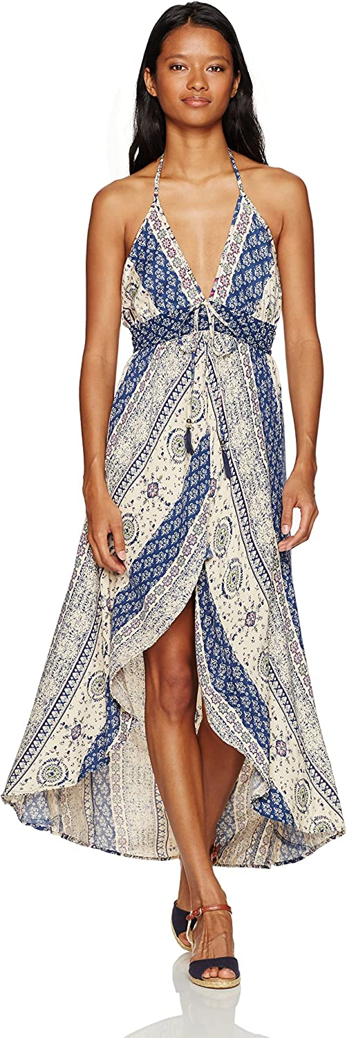 Angie Womens Printed Maxi Romper Jumpsuit