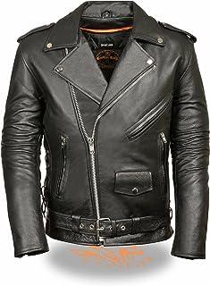 MILWAUKEE LEATHER Men`s Classic Side Lace Police Style Motorcycle Jacket (Black, 5X-Large)