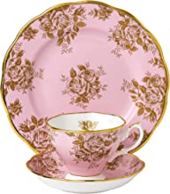 "Royal Albert 3 Piece 100 Years 1960 Teacup, Saucer & Plate Set, 8"", Multicolor"