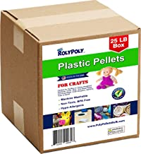 Plastic Pellets Bulk for Weighted Blankets, Bean Bags Bulk Box (25 pounds) Non-Toxic, Premium Quality Made in the USA for ...