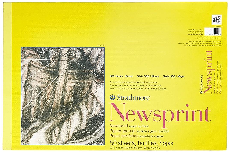 Strathmore 300 Series Newsprint Pad, Rough, 12