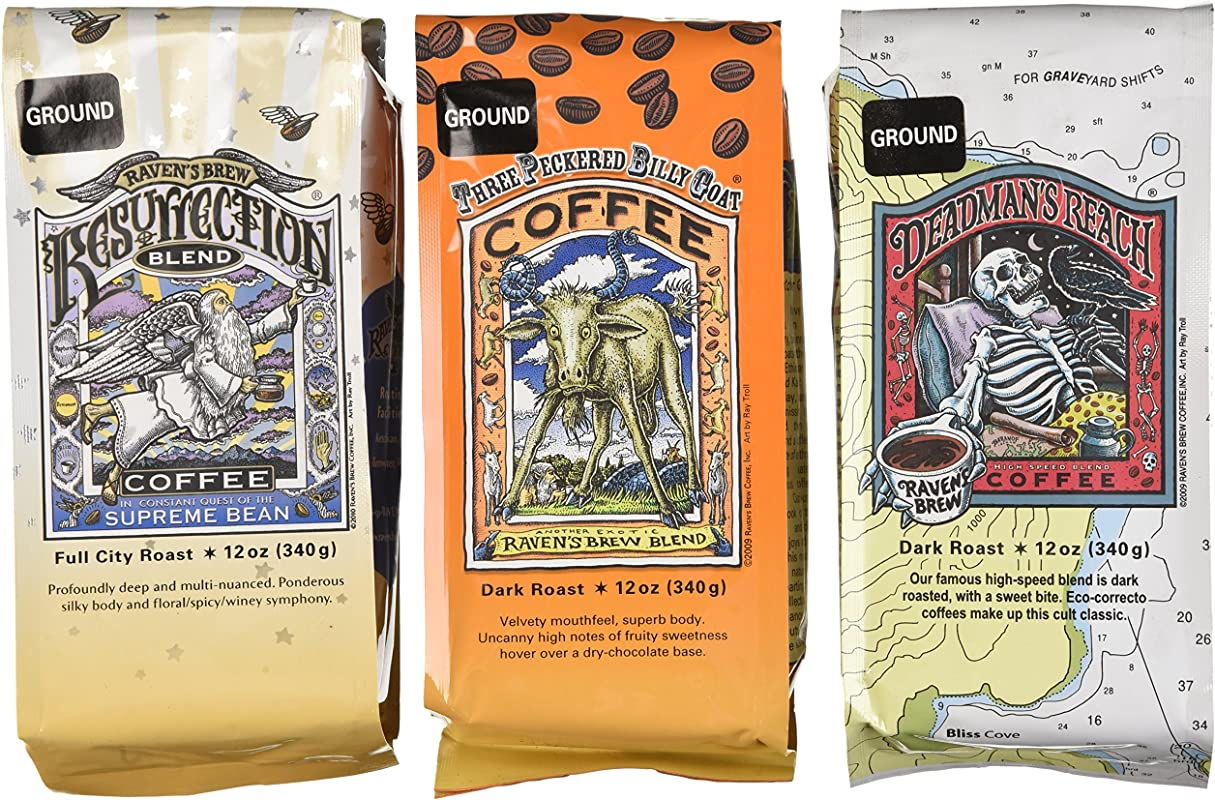 Raven S Brew Ground Coffee Auto Drip Variety Pack