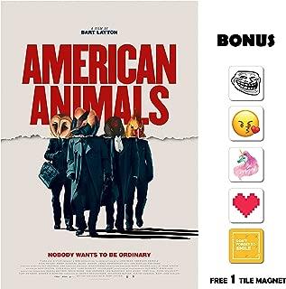 American Animals Movie Poster 13 in x 19 in Poster Flyer Borderless + Bonus 1 Free Tile Magnet