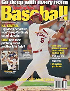 THE SPORTING NEWS BASEBALL 2002 Magazine N.L. CENTRAL: BIG MAC'S DEPARTURE WON'T KEEP CARDINALS OUT OF PLAYOFFS Gold Glove Winners, Pennant Races & Next Big Thing MIKE SWEENEY HOPES TO REVIVE ROYALS