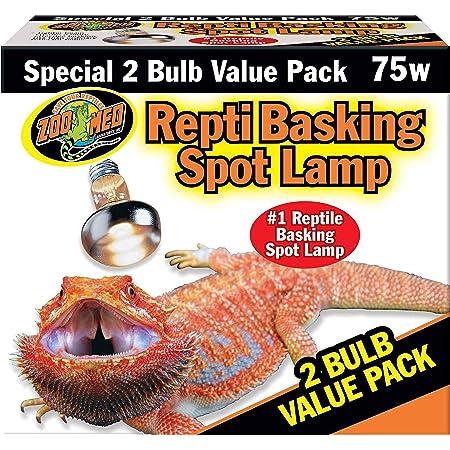 Zoo Med Repti Basking Spot Lamp 2 Bulb Value Pack 75W
