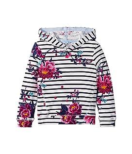 Striped Floral Hooded Sweatshirt (Toddler/Little Kids/Big Kids)