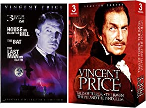 Vincent Price Box - Triple Feature: (The Raven / The Pit and the Pendulum / Tales of Terror) Horror DVD Collection + The House on Haunted Hill / The Bat / The Last Man on Earth Film Set