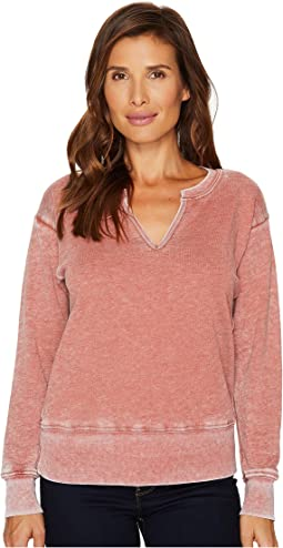 Split-Neck Sweatshirt