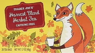 Trader Joes HARVEST BLEND HERBAL TEA, Caffeine Free, 20 Bags, 1.7 Oz Box