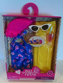 Our Generation Retro Pool Time 18 Doll Bathing Suit Swim Accessories