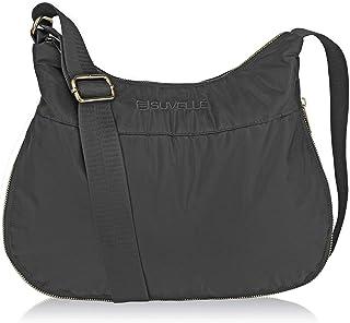 Suvelle Lightweight Hobo Travel RFID Blocking Expandable Crossbody Bag Multi Pocket Shoulder Handbag BA20