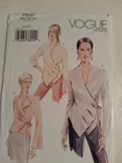 Vogue P937 or 7828 Misses Wrap Front Blouse Sizes 6-8-10