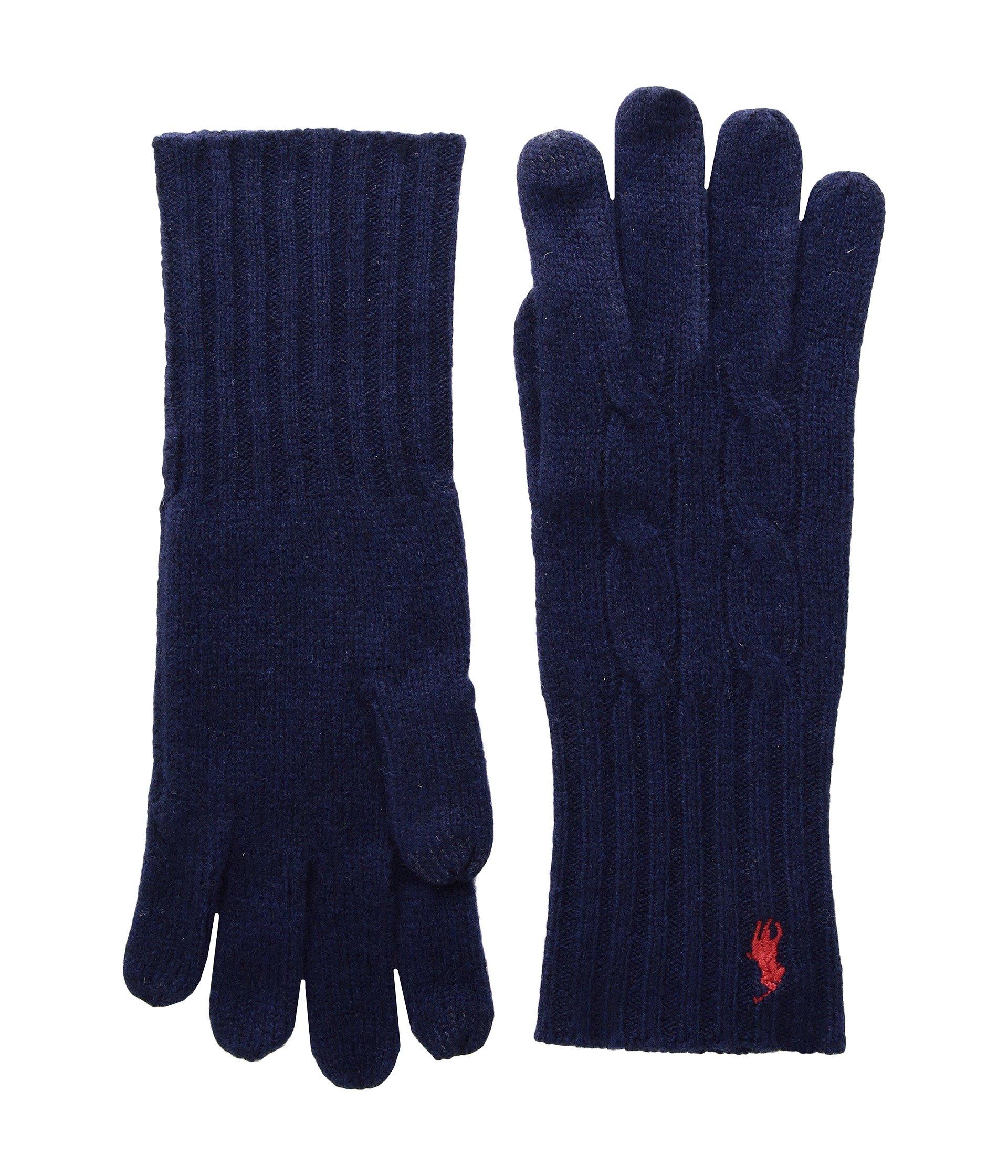 Guantes para Mujer Polo Ralph Lauren Cashmere Blend Classic Cable Knit Gloves  + Polo Ralph Lauren en VeoyCompro.net
