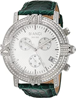 ROBERTO BIANCI WATCHES Women's 'Medellin' Swiss Quartz Stainless Steel and Leather Casual Watch, Color:Green (Model: RB18502)