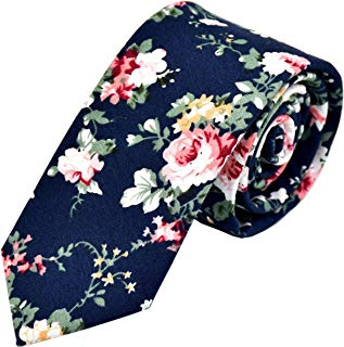 Men's Floral Tie Fashion Slim Skinny Neckties Causal Formal Occasion Wedding Business