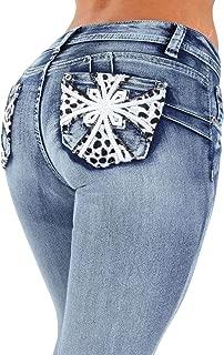 Colombian Design Butt Lift Levanta Cola Skinny Denim Jeans Plus/Junior Size