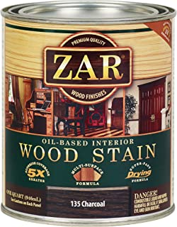 ZAR 13512 Wood Stain, QT, Charcoal
