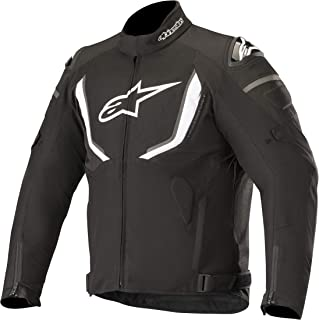 T-GP R v2 Waterproof All-Weather Street Riding Motorcycle Jacket (Large, Black White)