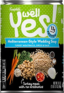 Campbell's Well Yes! Mediterranean-Style Wedding Soup, 16.1 oz. Can (Pack of 12)