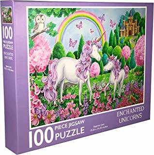 Page Publications Collection - Enchanted Unicorns - Jigsaw Puzzles 100 Pieces for Adults - Games for Adults, Teens and Kids