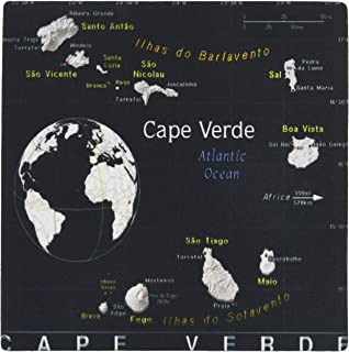 3dRose Modern Map of Cape Verde in Vivid Color Mouse Pad (mp_159702_1)