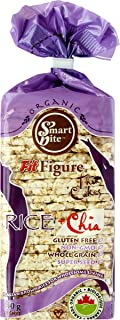 Smartbite Snacks Thin Organic Gluten-Free Brown Rice Cakes with Chia, 4.9 Oz (Pack of 12)
