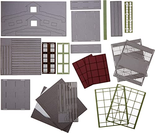 entrega gratis Joswood 17087 - Kit de construcción de 2 Casas, Casas, Casas, 150 x 310 x 273 mm, Corte láser  las mejores marcas venden barato