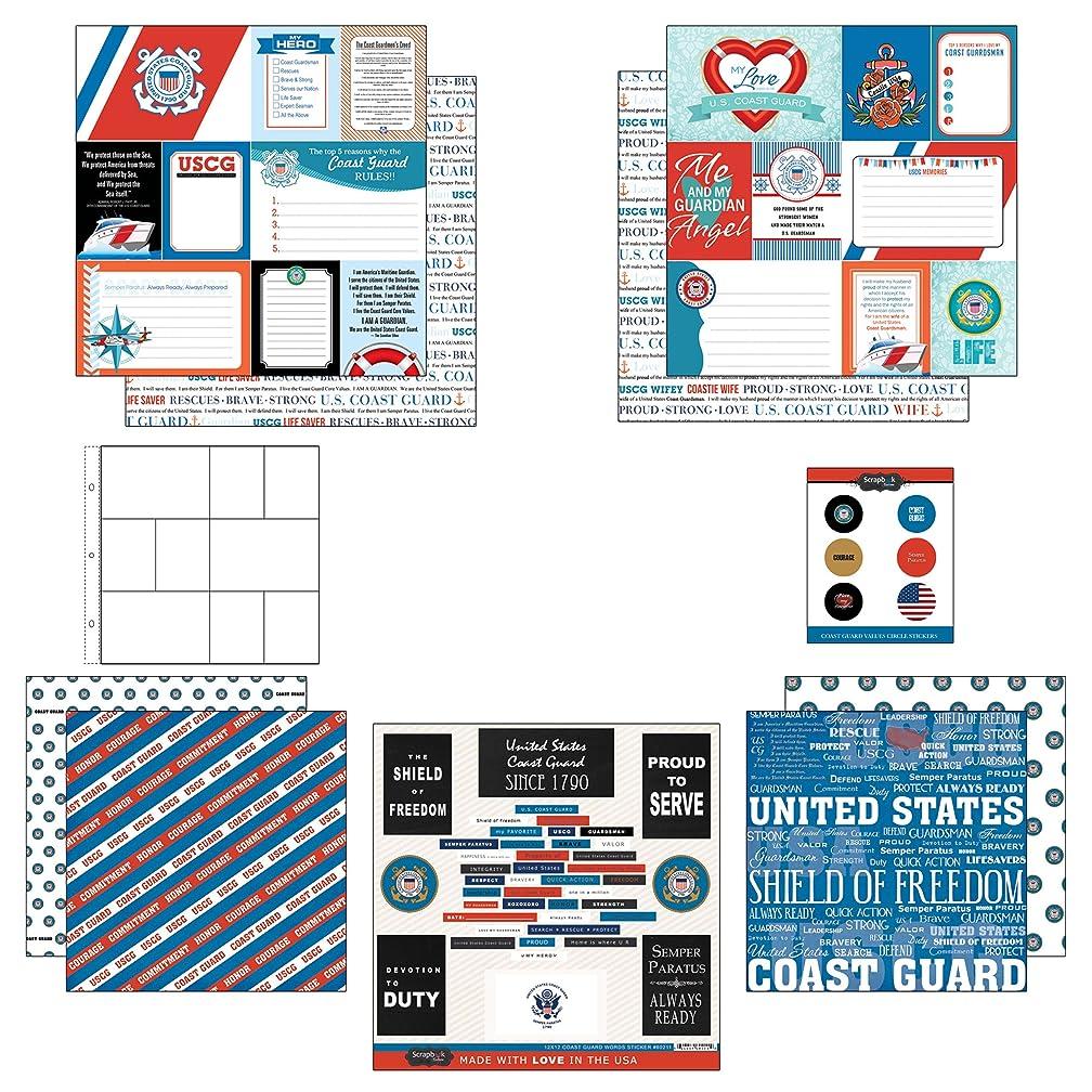 Scrapbook Customs Themed Paper and Stickers Scrapbook Kit, Coast Guard Journal