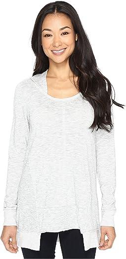 Heather Slub Jersey Pullover Hoodie