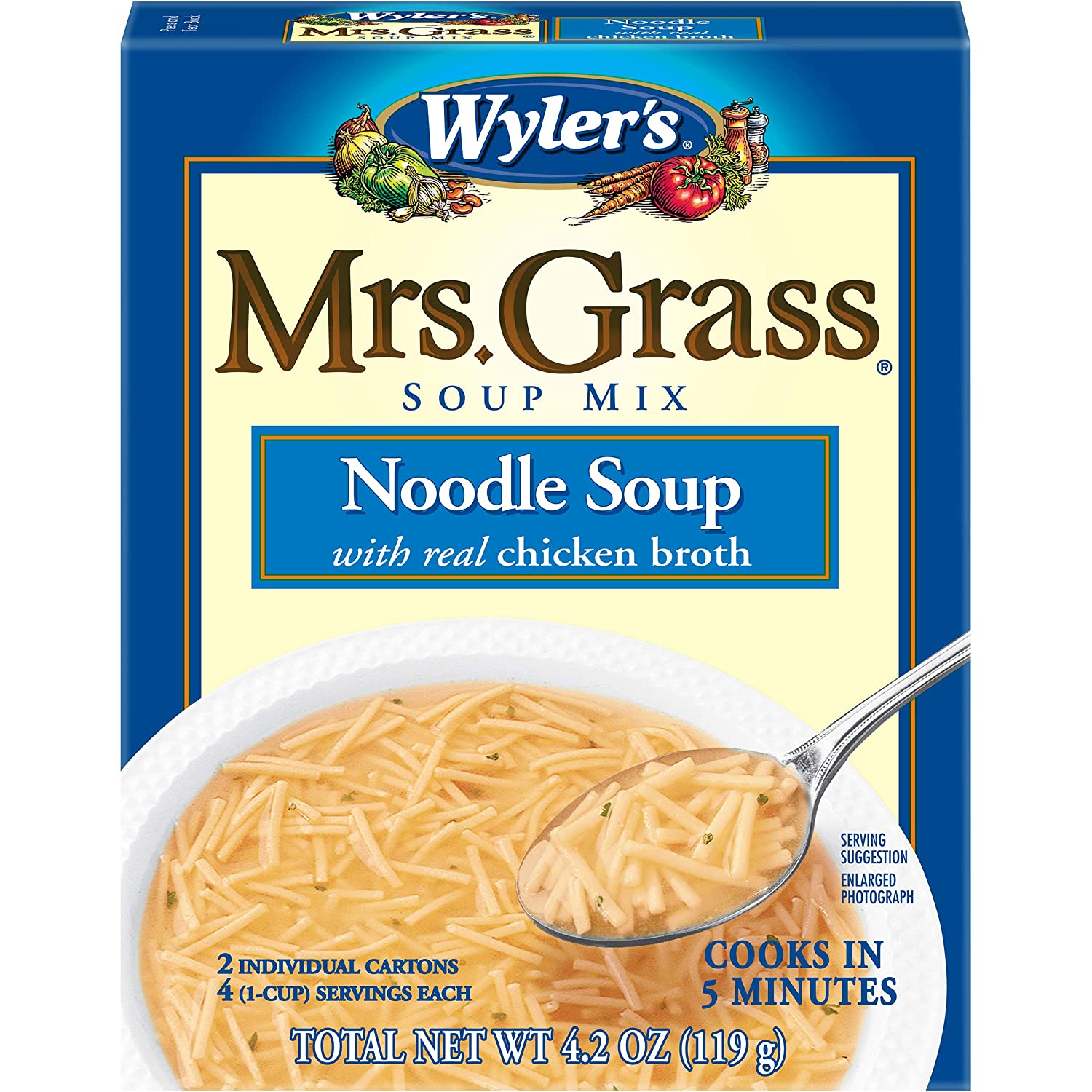 Mrs. Grass Noodle Soup All stores are sold 4.2 Mix quality assurance Box oz