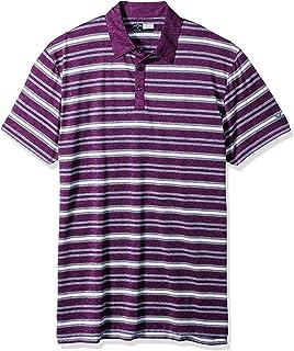 Callaway Men's Big & Tall Opti-Soft Short Sleeve Heather Striped Polo