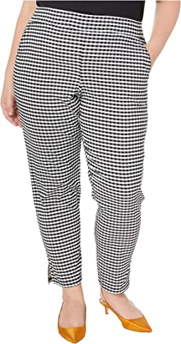 Plus Size Small Plaid Temp Tech Trouser Leggings