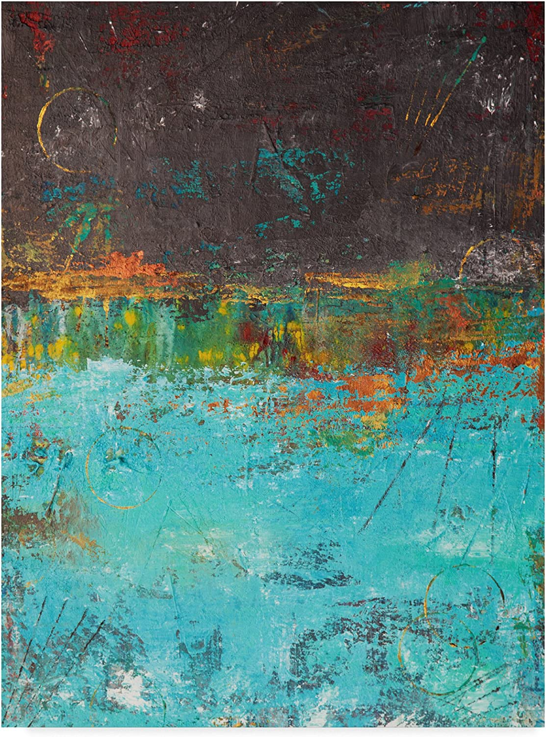 Lithosphere Brown bluee by Hilary Winfield, 14x19Inch