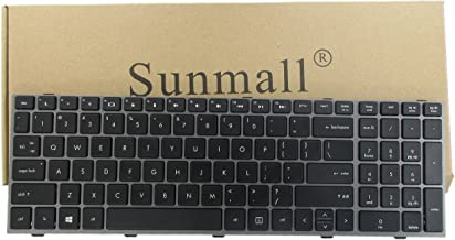 SUNMALL New Laptop Keyboard with Frame for HP ProBook 4540s 4540 4545s Series Compatible with Part Number 702237-001 683491-001 701485-001 Black US Layout