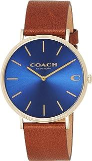 Coach Mens Quartz Wrist Watch, Brown Leather - 14602473